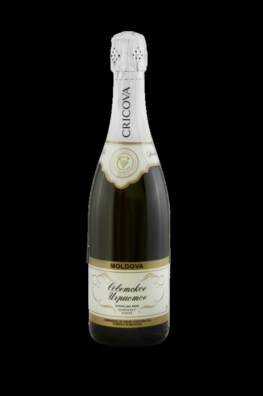 CRICOVA Sovetscoe Igristoe Semisweet Sparkling Wine