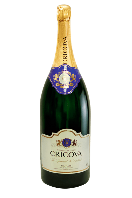 CRICOVA Big Bottles Sparkling Wine Brut 3L and 6L