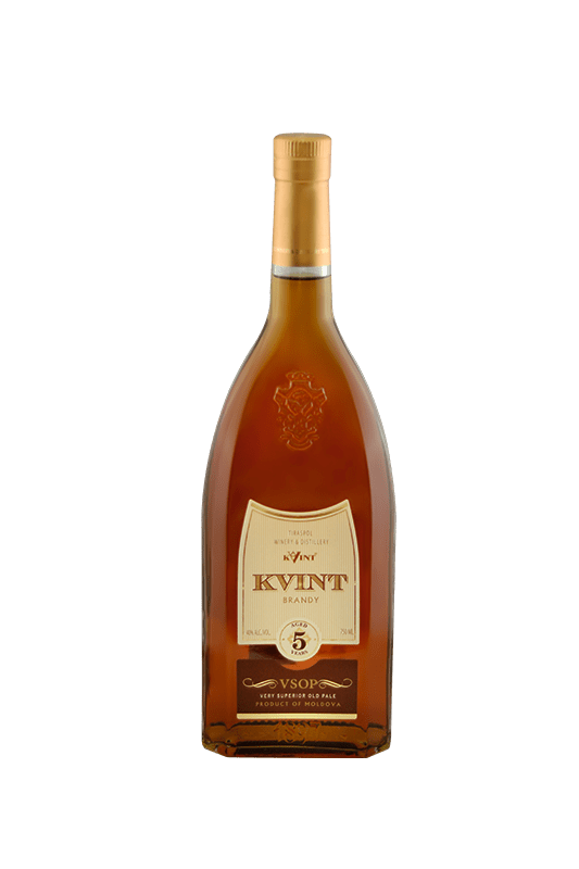 DIVIN Kvint VSOP Aged 5 years 750 ml, 200 ml and 50 ml