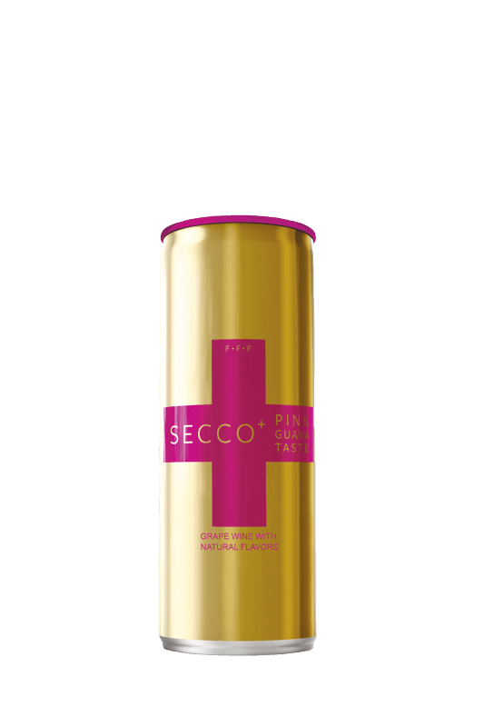 SECCO+ Pink Guava Sparkling Wine Pack of 4