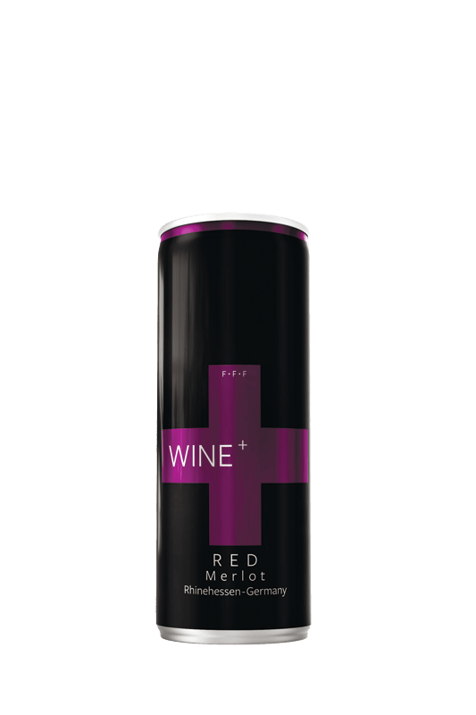 Wine+ Merlot Dry Red The Best from Germany pack of 4