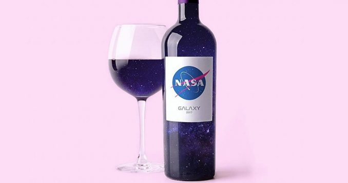 Wine aged in space.