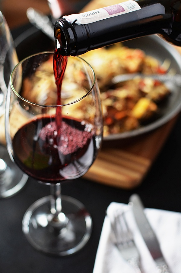 Red thanksgiving wine