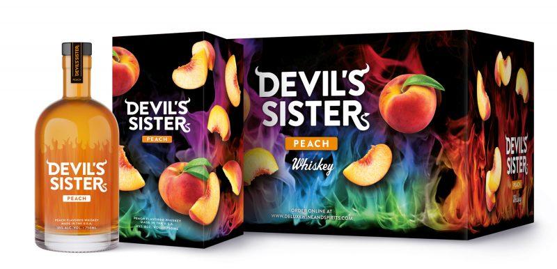 devil's sister peach whiskey box