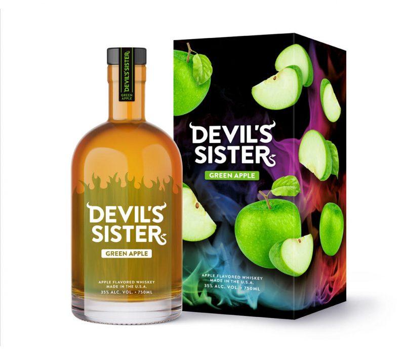 devil's sister green apple whiskey